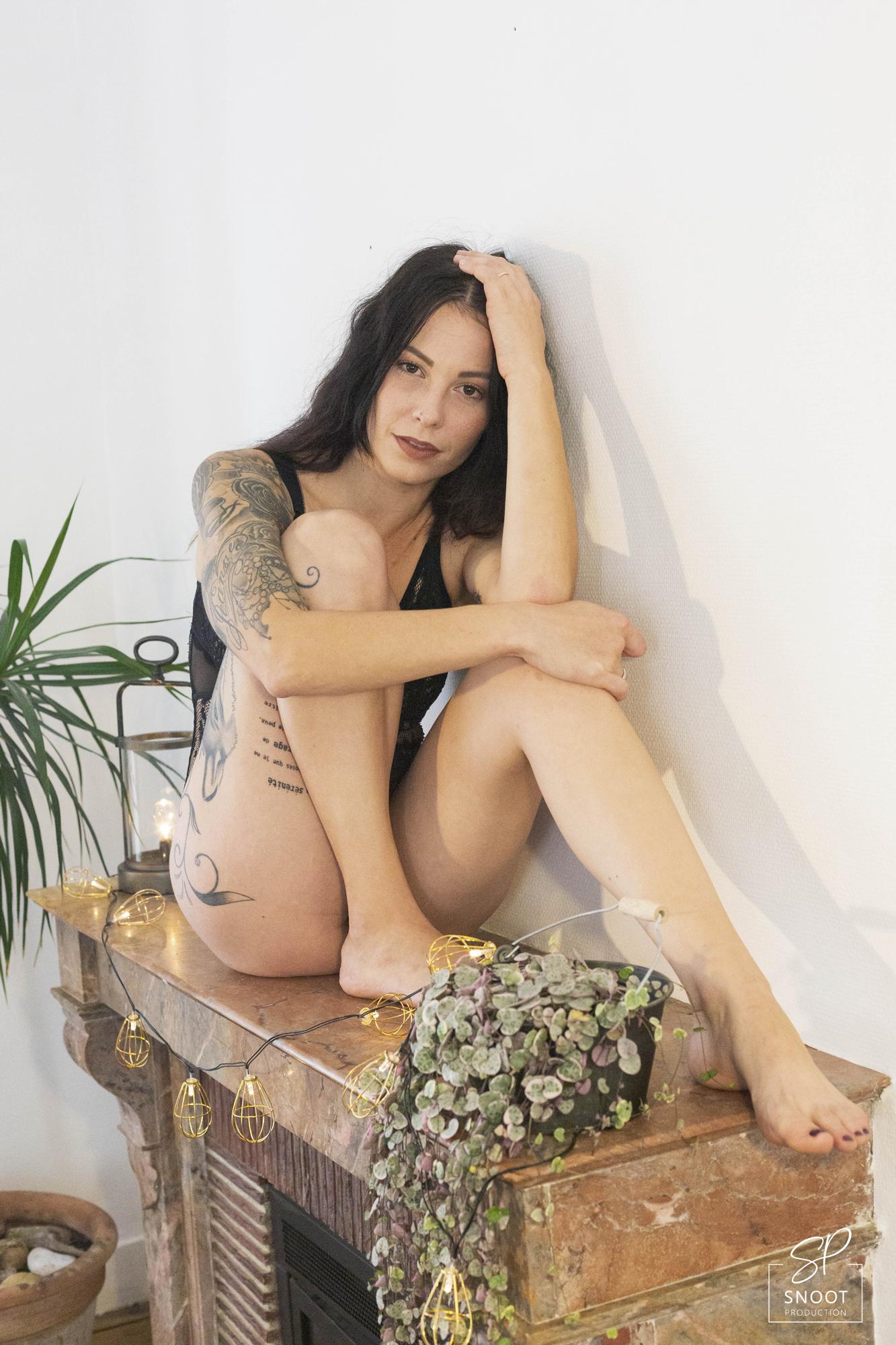 Shooting photo femme tatouage vendée